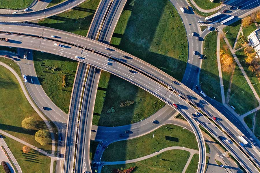 Logistics Commercial Trucking Complex Highway