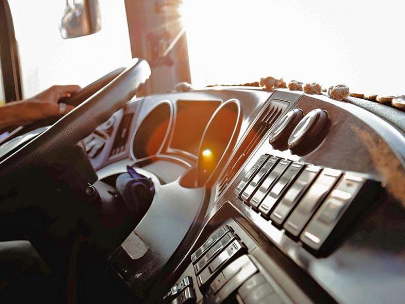 Commercial Trucking Transportation Truck Cab Interiror