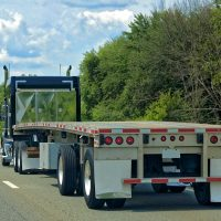 Flat Bed Truck Commercial Transport Trucking Service