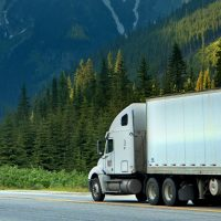 Commercial Trucking Mountain Road