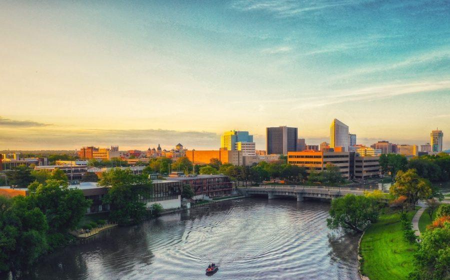 Wichita-Kansas-Downtown-River-Sunset@1200W